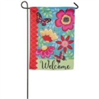 Butterflies and Flowers Garden Flag