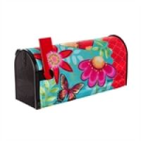 Butterflies and Flowers Mailbox Cover