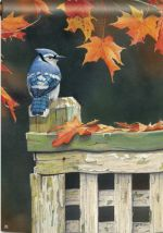 Autumn Blue Jay Garden Flag