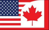 Canada and USA combined flag