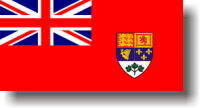 Canadian Red Ensign - Green Leaves