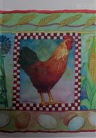 Checkerborard Rooster Decorative Flag