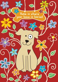 Dog Bone garden flag
