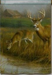 Down by the Creek Deer  Decorative Standard Size Flag