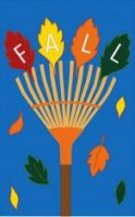 Fall Rake Decorative Flag