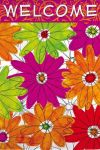 Funky Floral Garden Decorative Flag