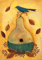 A Gourd Birdhouse Decorative Garden Flag