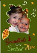 Grandkids Spoiled Here photo Garden Flag