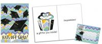Hats off Grad Evergreeting card and Garden Flag