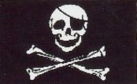 Jolly Roger Pirate Stick Flag