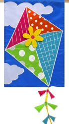 Kite Flying Applique decorative flag