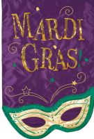 Mardi Gras Mask Applique Garden Flag