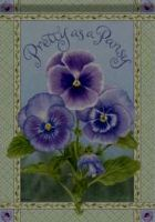 Pretty as a Pansy Garden  Flag