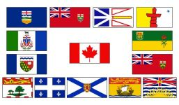"Provincial Flag Stick set 12"" x 18"""