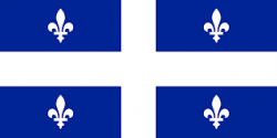Quebec Provincial Stick Flag
