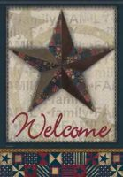 Quilted Barn Star Garden Flag