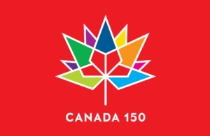 Canada150 Flag Red 18x36