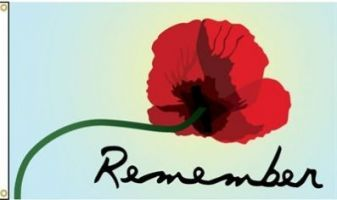 Remember Remembrance Day Flag