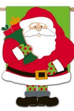 Santa is Here Decorative Applique Flag