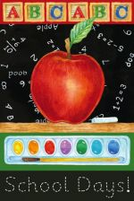 Big Apple School Days Decorative Garden Flag