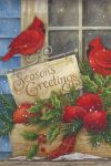 Seasons Greeting Cardinal Garden Flag