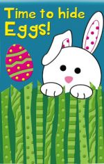 Time to Hide Eggs Easter Decorative Flag