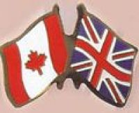 Canada and United Kingdom Friendship Pin