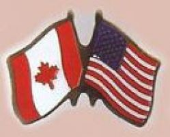 Canada and USA Friendship Pin