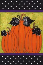 A Group of Whimsy Pumpkins Decorative Flag