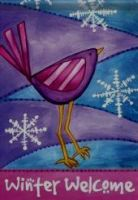 A Winter Welcome Bird Garden Flag