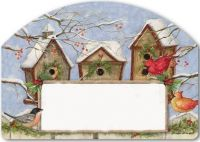 Winter Birdhouse Yard Design