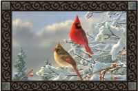 Winter Cardinal Mat Mate